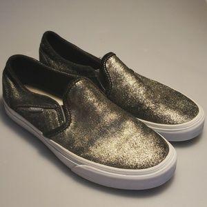 Gold sparkle Vans
